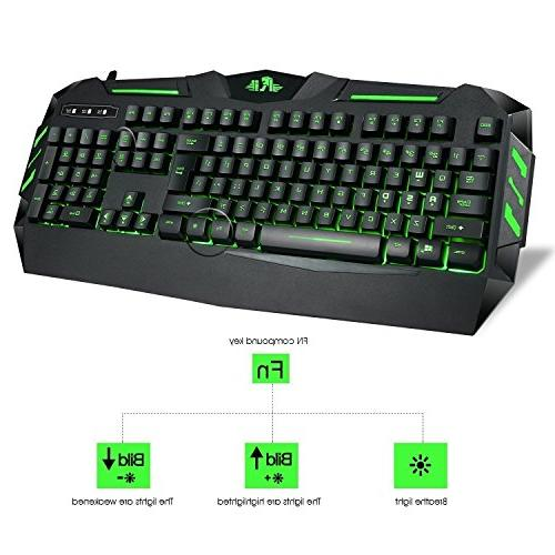 Rii 7 Colors Rainbow Backlit Mechanical Wired Multimedia Gaming Keyboard