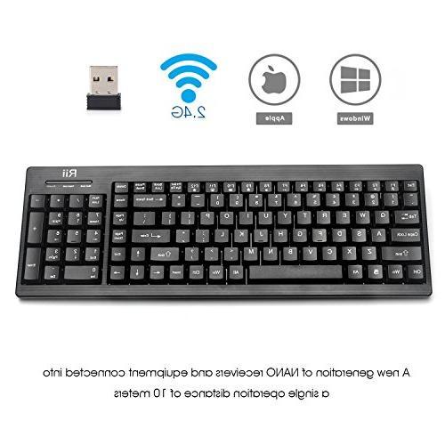 Rii RK901 ultra-slim Compact full 2.4G Keyboard pc,raspberry