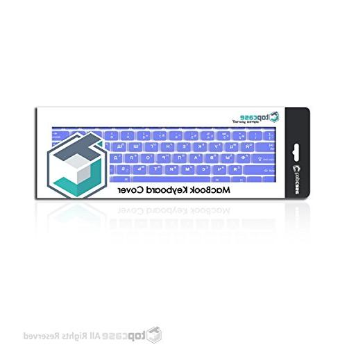 """TOP CASE - Russian/English Letter Keyboard Compatible with Macbook 13"""" Unibody/Old 13"""" 15"""" / Macbook Air Wireless"""