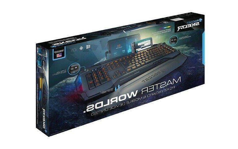 ROCCAT Smart Gaming Keyboard, RGB Backlight, USB,Bluetooth