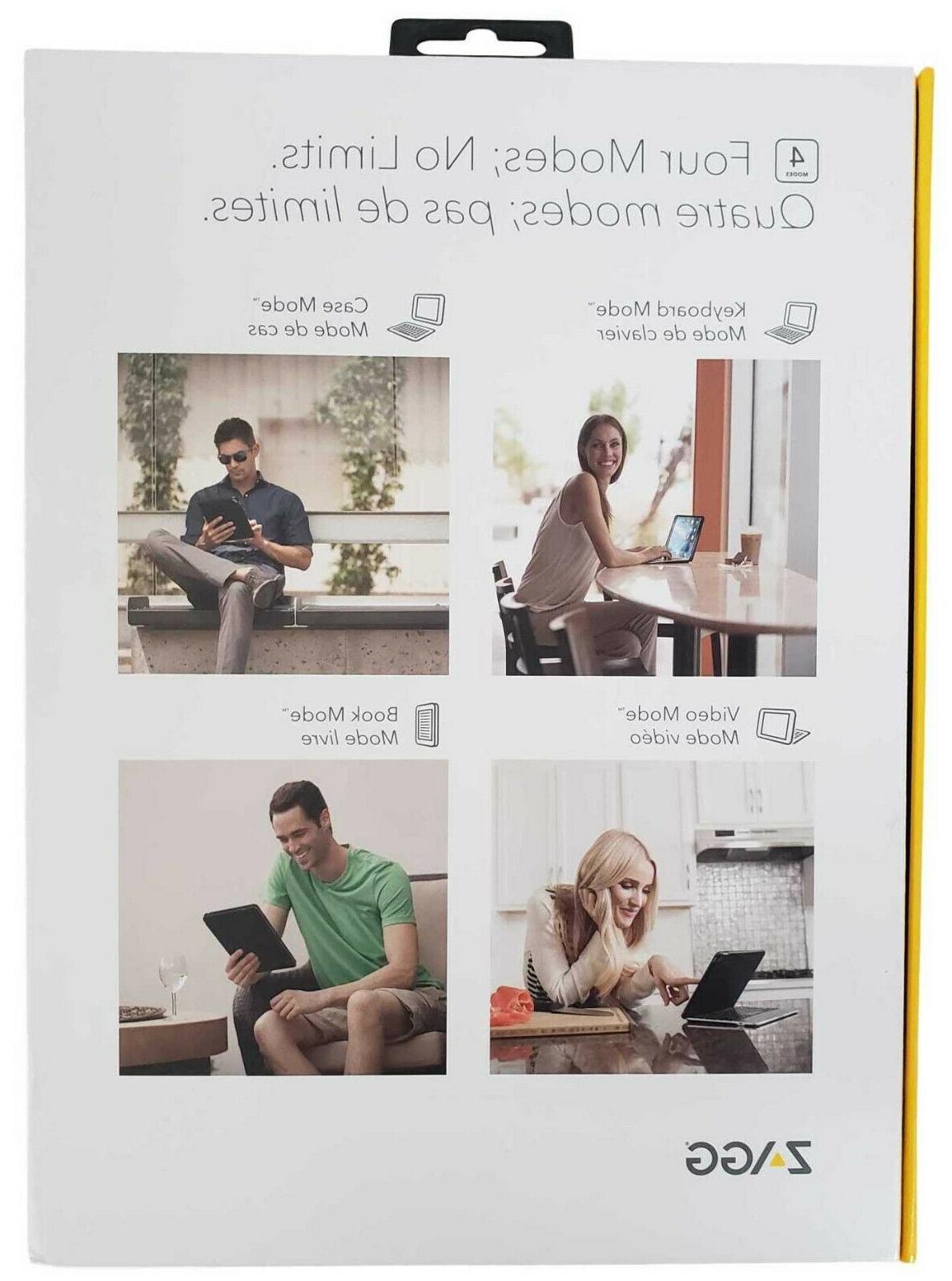 Zagg Slim Book Pro Backlit Keyboard Folio Detachable New