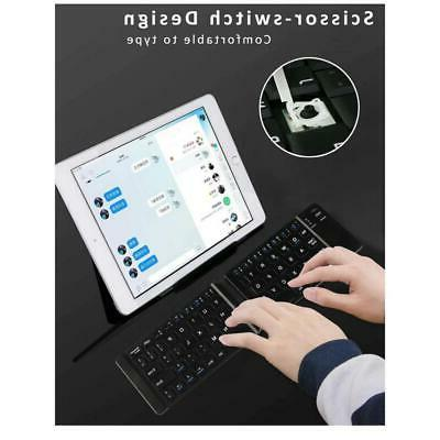 SLIM COMPACT FOLD-UP WIRELESS KEYBOARD KEYPAD PORTABLE for PHONE / TABLETS