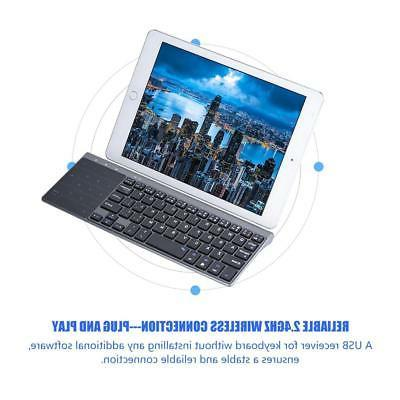Slim Wireless Keyboard with Touchpad Universal For