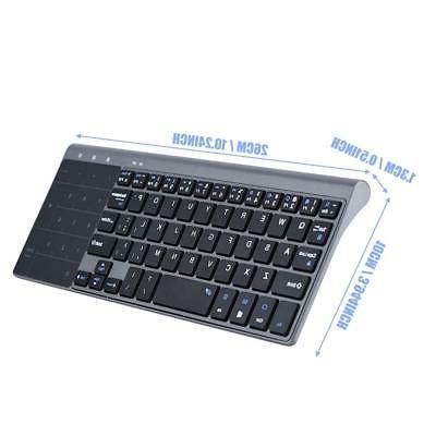 Slim Wireless 2..4Ghz 1200DPI Keyboard with For PC