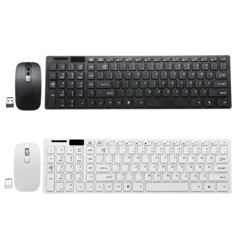 Slim Keyboard Set USB Receiver For Windows Mac
