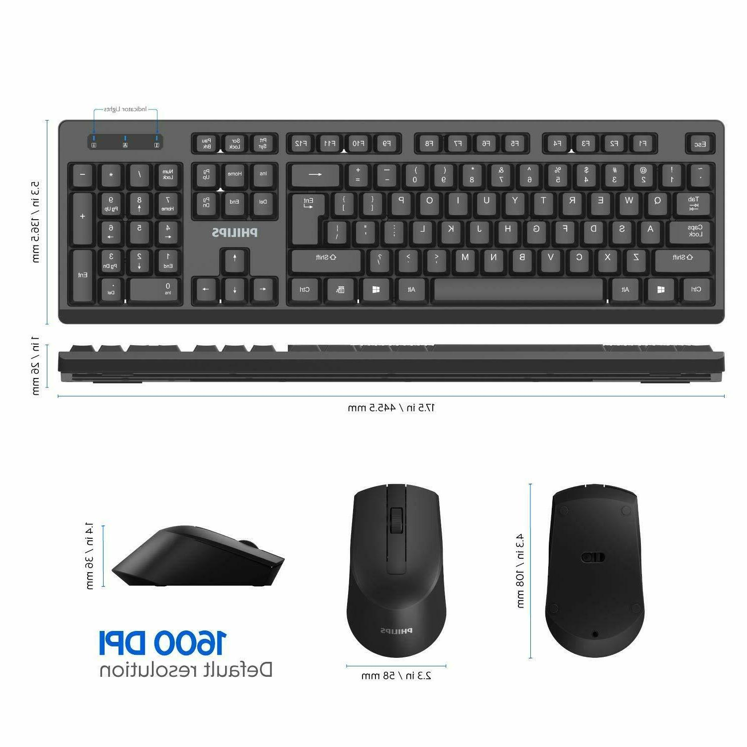 PHILIPS Wireless Keyboard Drop-Free