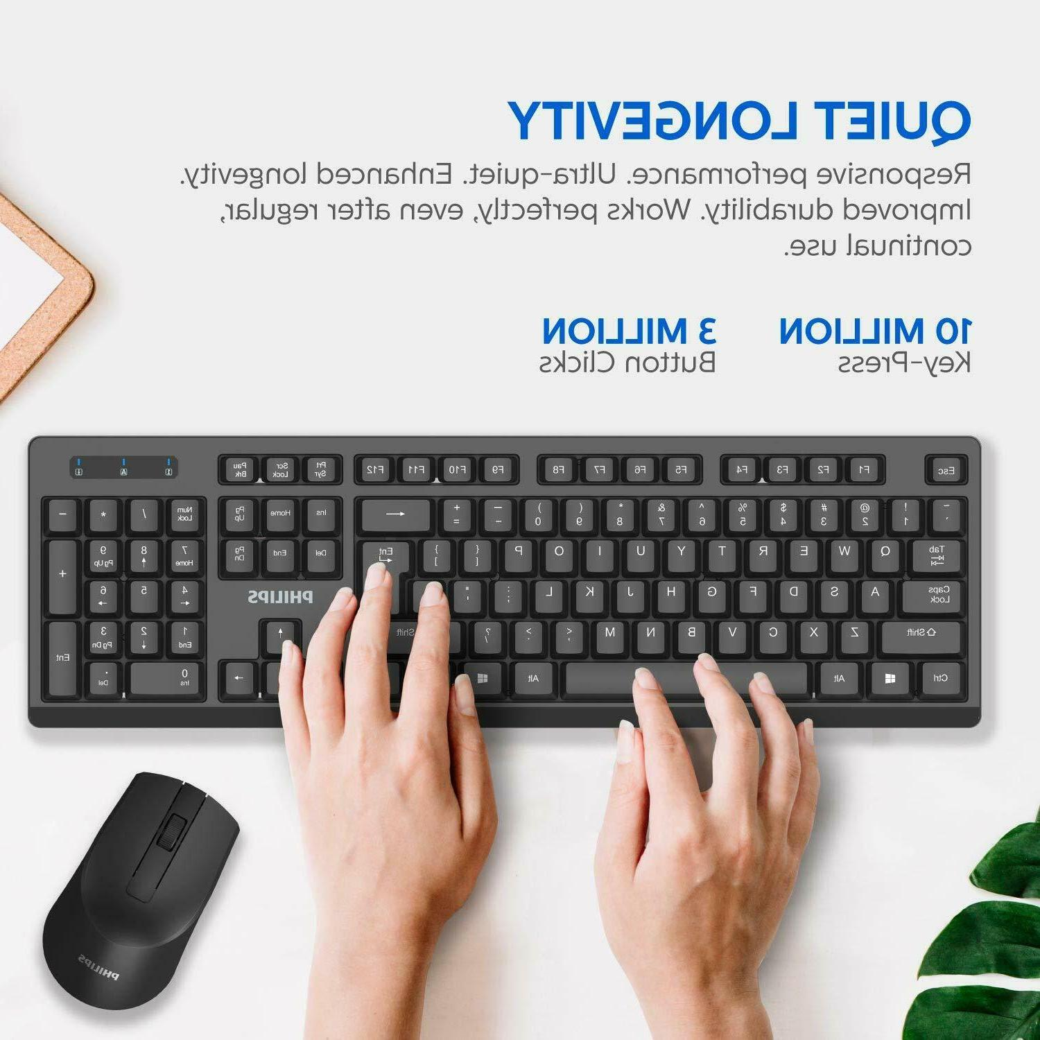 PHILIPS Wireless Keyboard and Drop-Free Connection