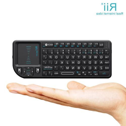 Rii X1 2.4Ghz Mini Wireless Keyboard touchpad for PC smart T