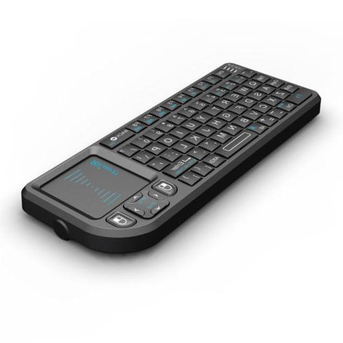 Rii tek X1 Mini 2.4G Black Wireless Keyboard with Mouse Touchpad Control