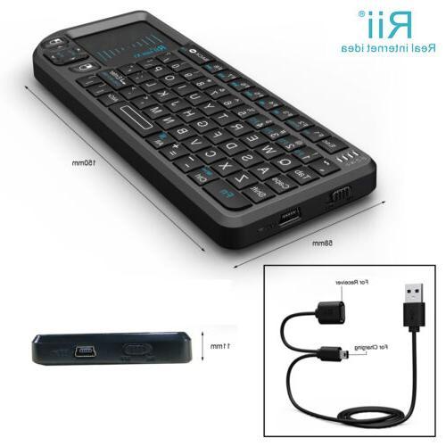 Rii X1 Mini 2.4G Black Wireless with Mouse Control