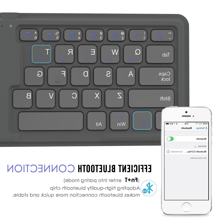 MoKo Foldable Bluetooth Keyboard iPad, iPhone iOS Windows
