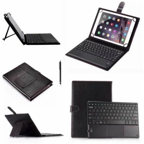 """Universal Touchpad Keyboard &Leather Case For 7"""" 8"""" 9"""" 10.1"""