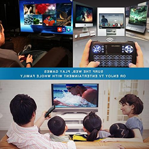 Backlit Wireless with Touchpad and Multimedia Keys, Rechargable Remote X-BOX, TV