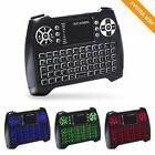 Updated 2018, 3-Color RGB Backlit Wireless Mini Keyboard wit