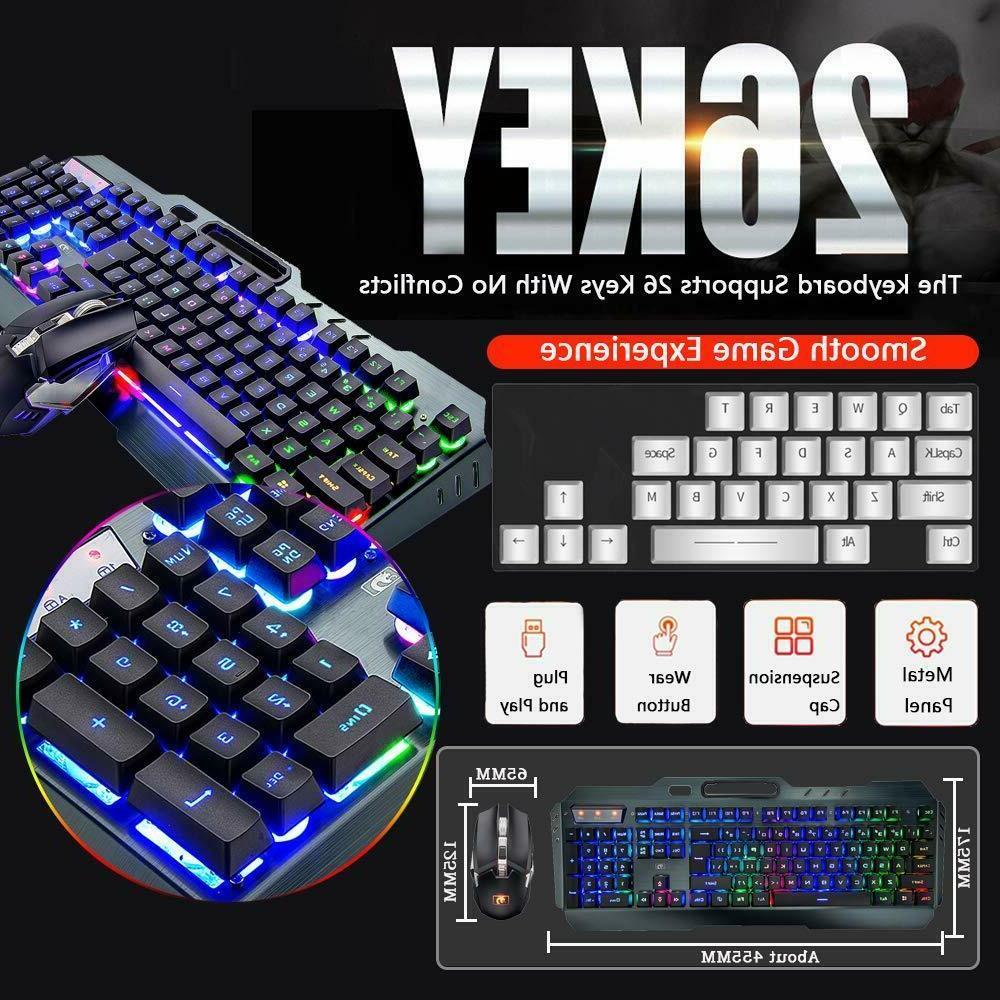 US LED Gaming Keyboard Mice