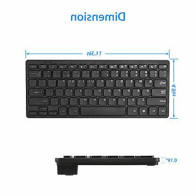 USB 2.4GHZ Wireless Slim Keyboard and Combo Set Laptop