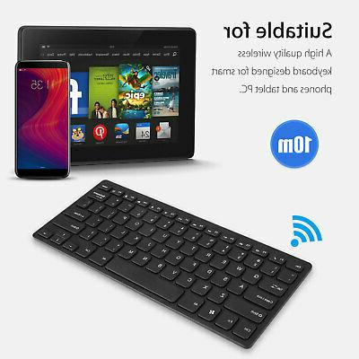 USB 2.4GHZ Wireless Slim Keyboard Cordless Combo Kit Set Laptop PC