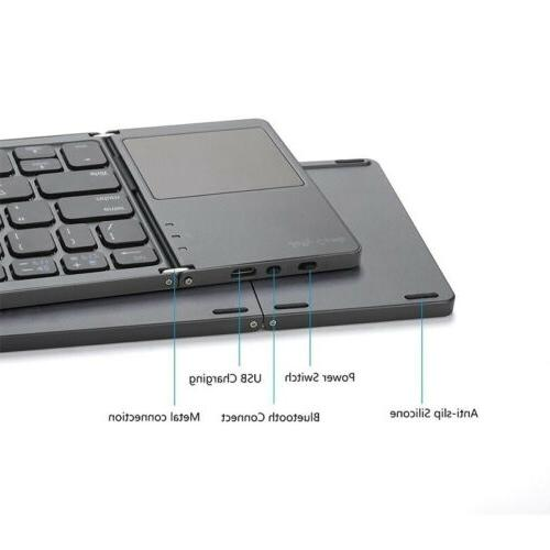 Wireless Keyboard For Portable Foldable