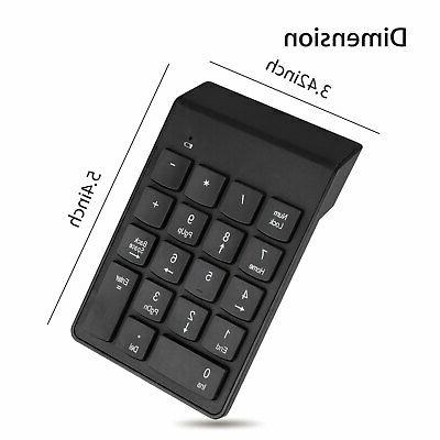 USB Wireless 18 Number Pad Numpad Keypad Keyboard Tablet