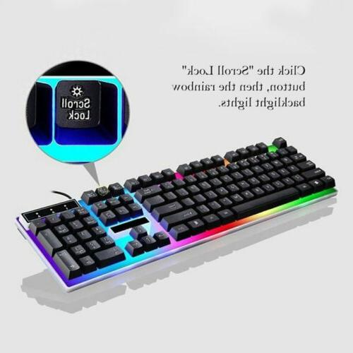 VicTsing Wired LED Backlit Mouse For PC Win10