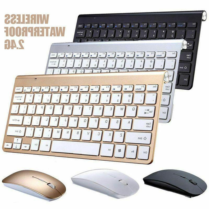 Waterproof Wireless Keyboard And Mouse Set For Apple Mac Com