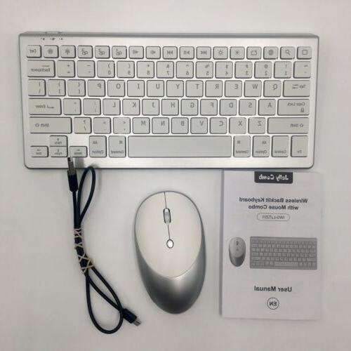 wireless backlit keyboard and mouse combo