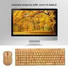 Wireless Bamboo PC Keyboard and Mouse Combo Anti-static Hand