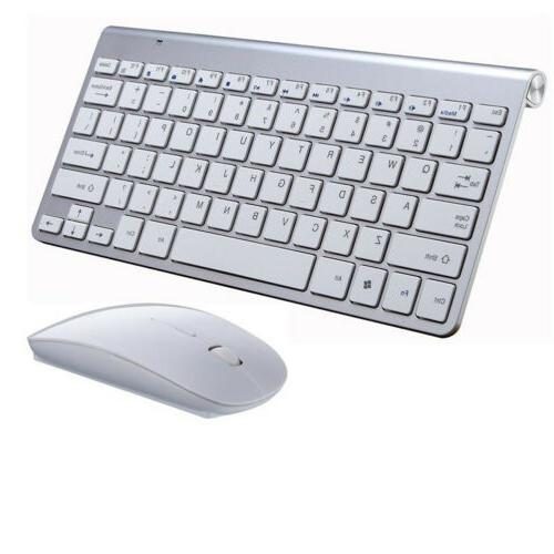 Bluetooth Mini Keyboard and Wireless 2.4G Mouse for Windows