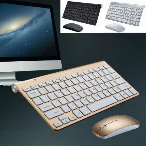 NEW Bluetooth Keyboard and Wireless 2.4G Mouse Combo for PC