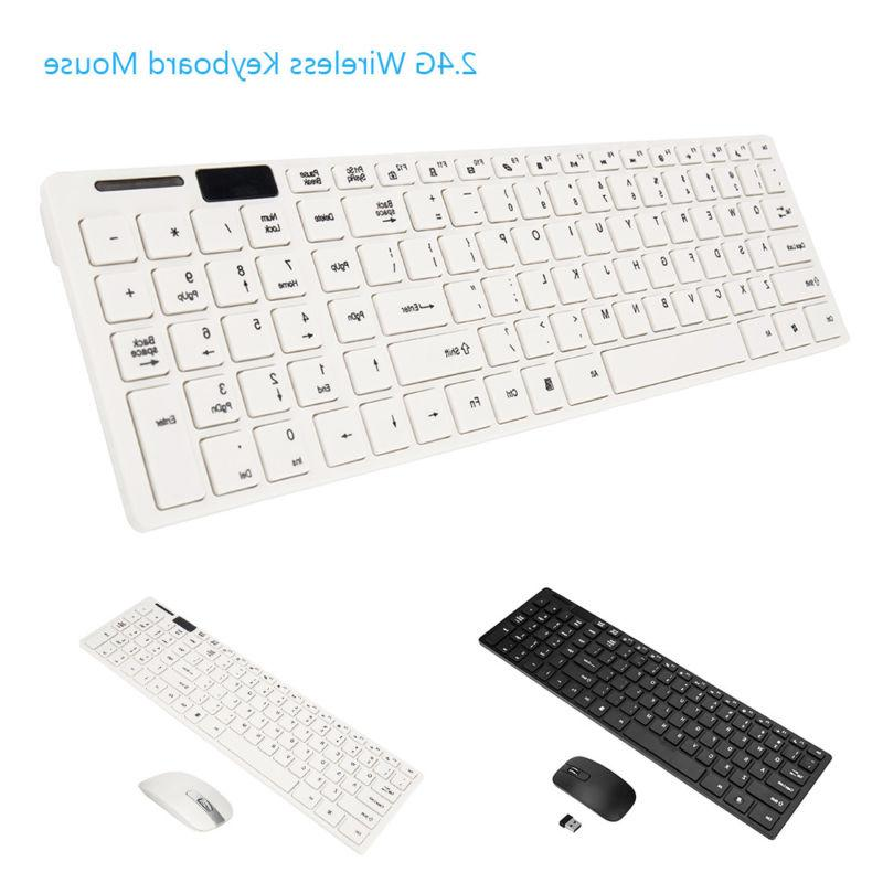 Wireless Bluetooth Keyboard and Mouse Combo Computer Desktop