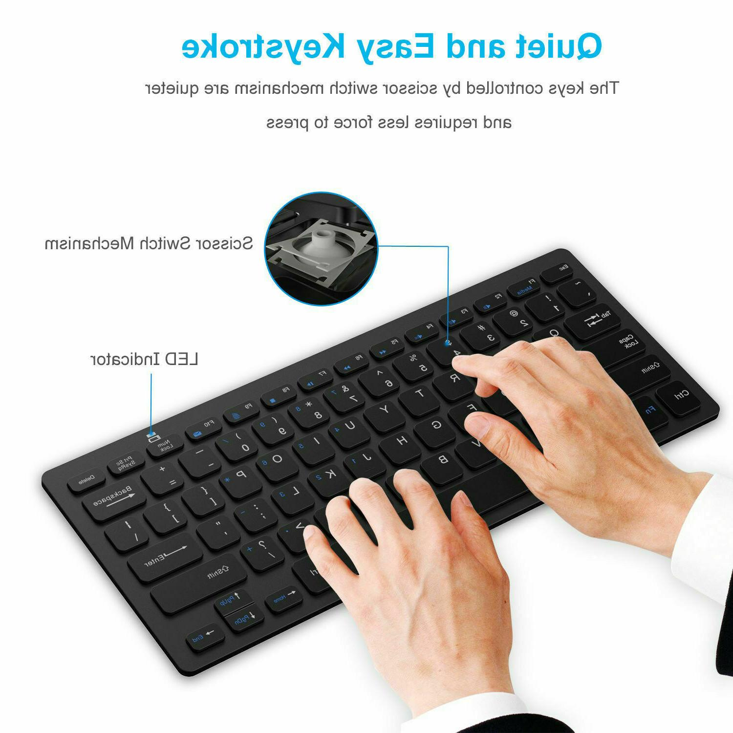 Wireless Bluetooth Keyboard For iOS Android OS Tablet