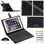 Wireless Bluetooth Touch Keyboard PU Leather Stand Buckle Ca