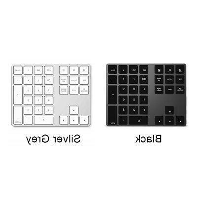 Wireless BluetoothB Wired Number Pad Keypad 34-Keys Digitals
