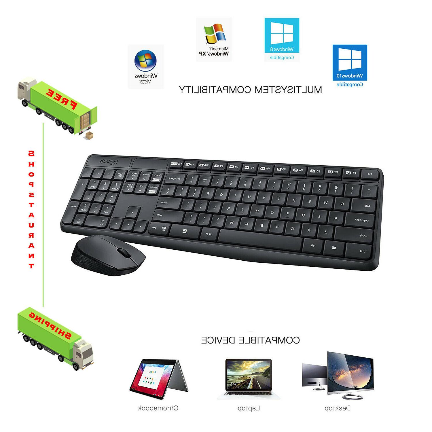 wireless combo full size keyboard and mouse
