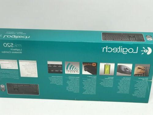 Logitech Wireless Desktop MK520 Keyboard Combo NEW SEALED