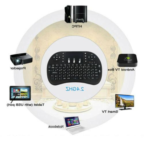 2.4G Mini Wireless Fly Air Keyboard Mouse Touchpad For BOX/ PC