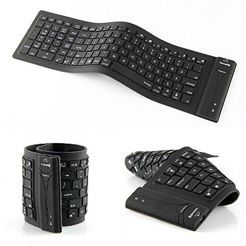 wireless folding bluetooth keyboard silicone
