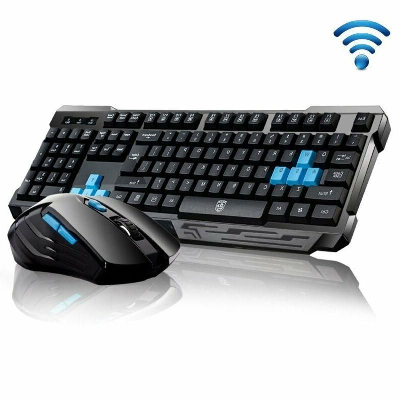Wireless Gaming Keyboard and Mouse Combo Set 2 . 4Ghz for De