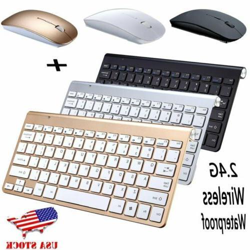 Ergonomic Ultra Slim 2.4G Wireless Keyboard Mouse Bundles Su