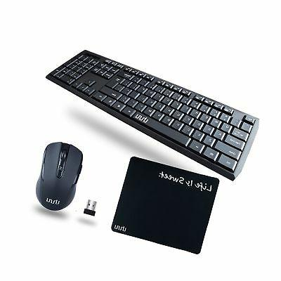 Wireless Keyboard and Mouse, UHURU 2.4GHz Keyboard Mouse Com