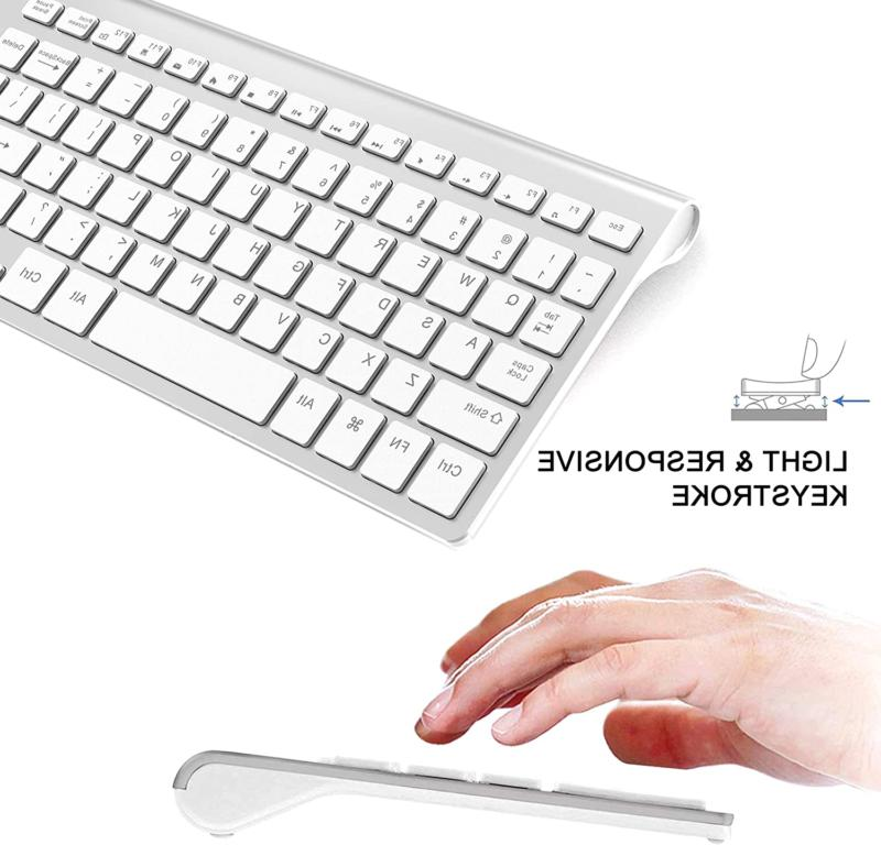 2.4G And Mouse Set For Mac Apple Size Slim Silve