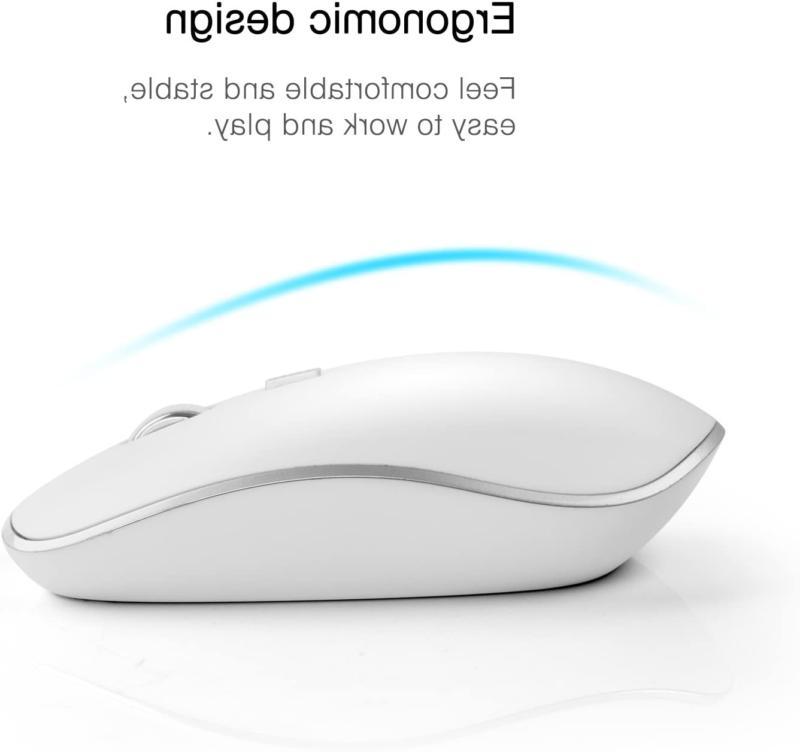 2.4G Mouse Mac Apple Full Size Silve
