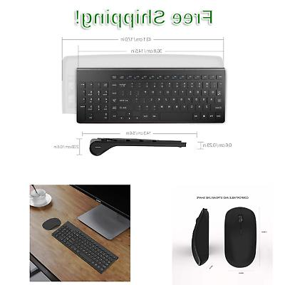 J JOYACCESS Wireless and Mouse Combo-2.4G Portable,Full Size
