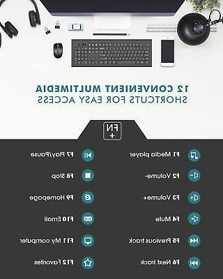 Wireless Mouse Combo Bluetooth Desktop