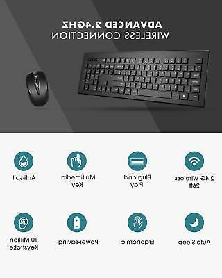 Wireless Mouse Combo Desktop PC