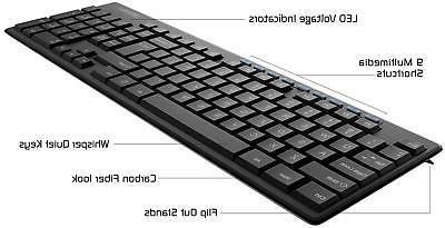 Wireless Keyboard Combo Accessories Peripherals