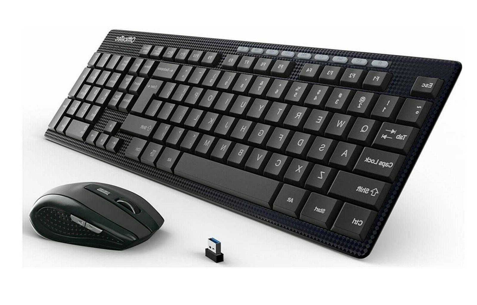 Wireless Keyboard Mouse Combo Computer Cordless