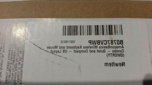 AmazonBasics Wireless and Mouse Combo Size US