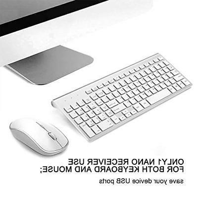 Wireless Keyboard and Mouse Combo,J JOYACCESS Wireless