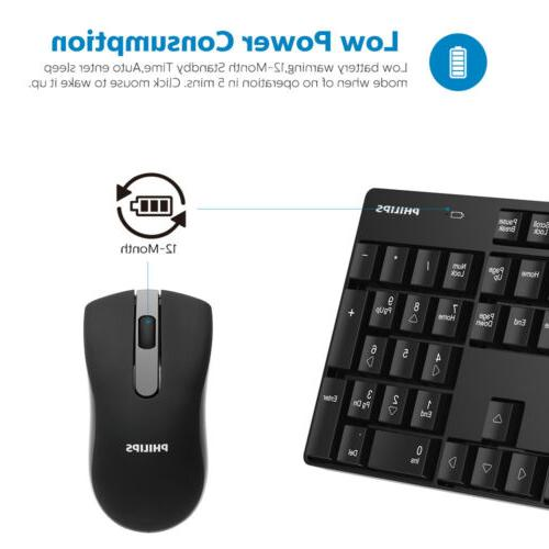 Philips Keyboard Mouse Kit w/ Receiver for Laptop